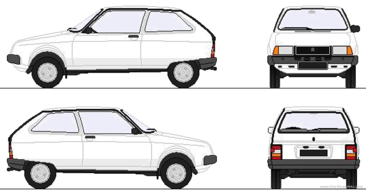 blueprints cars citroen citroen axel 1984. Black Bedroom Furniture Sets. Home Design Ideas