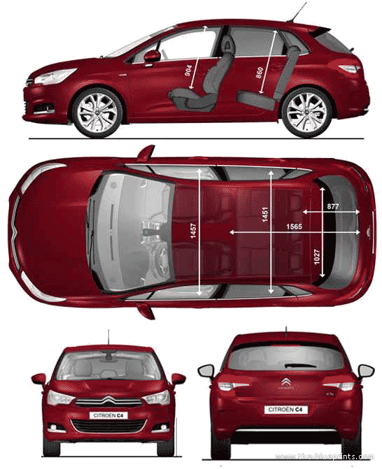 blueprints cars citroen citroen c4 s2 2010. Black Bedroom Furniture Sets. Home Design Ideas