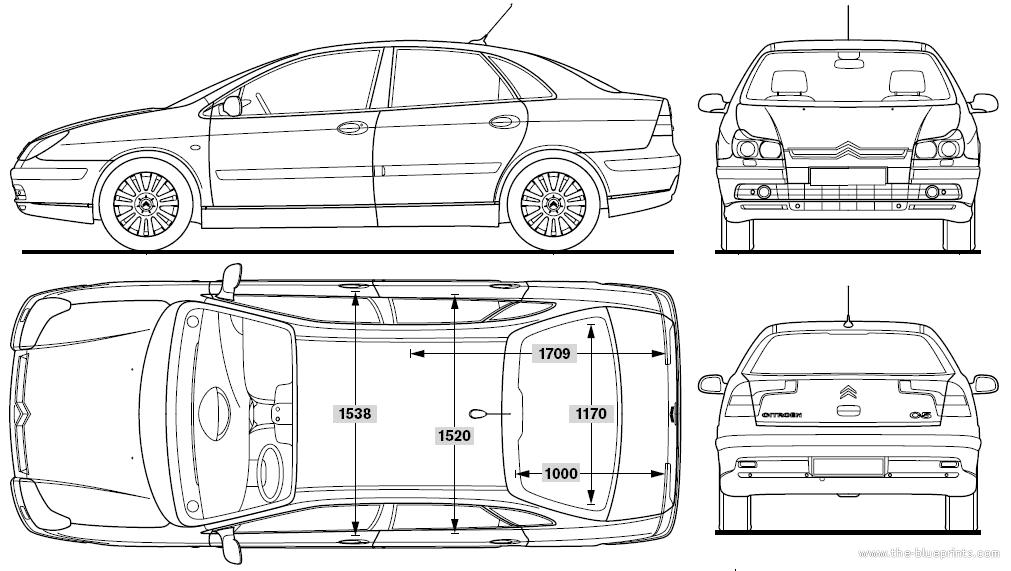 blueprints cars citroen citroen c5 2007. Black Bedroom Furniture Sets. Home Design Ideas
