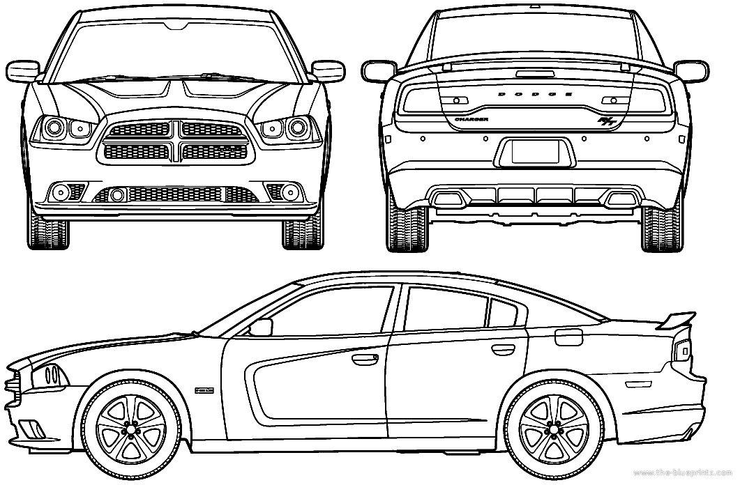 Cars Dodge Charger Outline Car Pictures - Car Canyon
