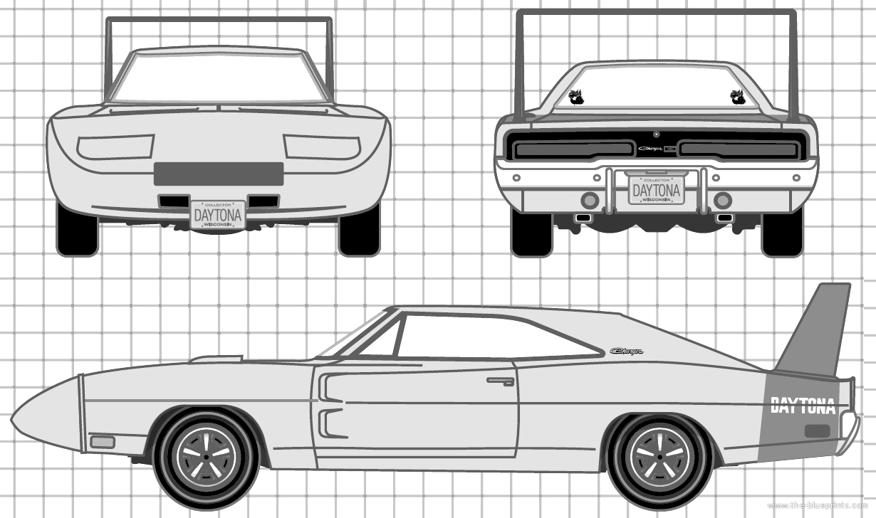 Blueprints > Cars > Dodge > Dodge Charger Daytona (1969)