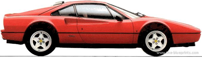... Blueprints.com - Blueprints > Cars > Ferrari > Ferrari 328 GTB (1986