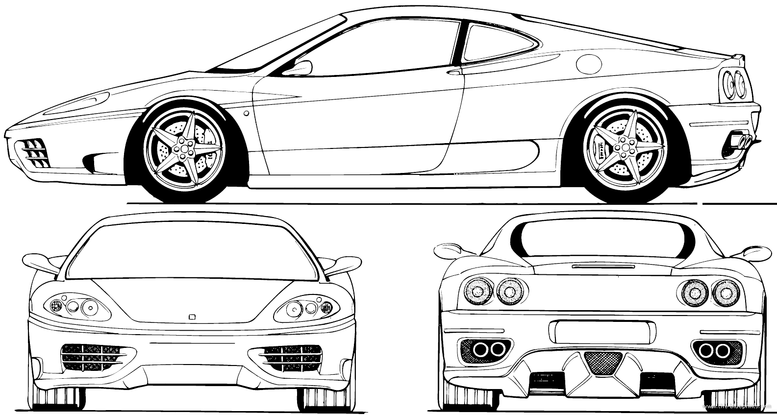 The Blueprints Com Blueprints Gt Cars Gt Ferrari Gt Ferrari