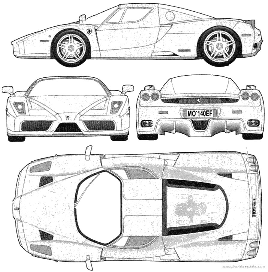 100+ [ Car Ferrari Drawing ] | Car Blueprints Ferrari 250 Gt ...