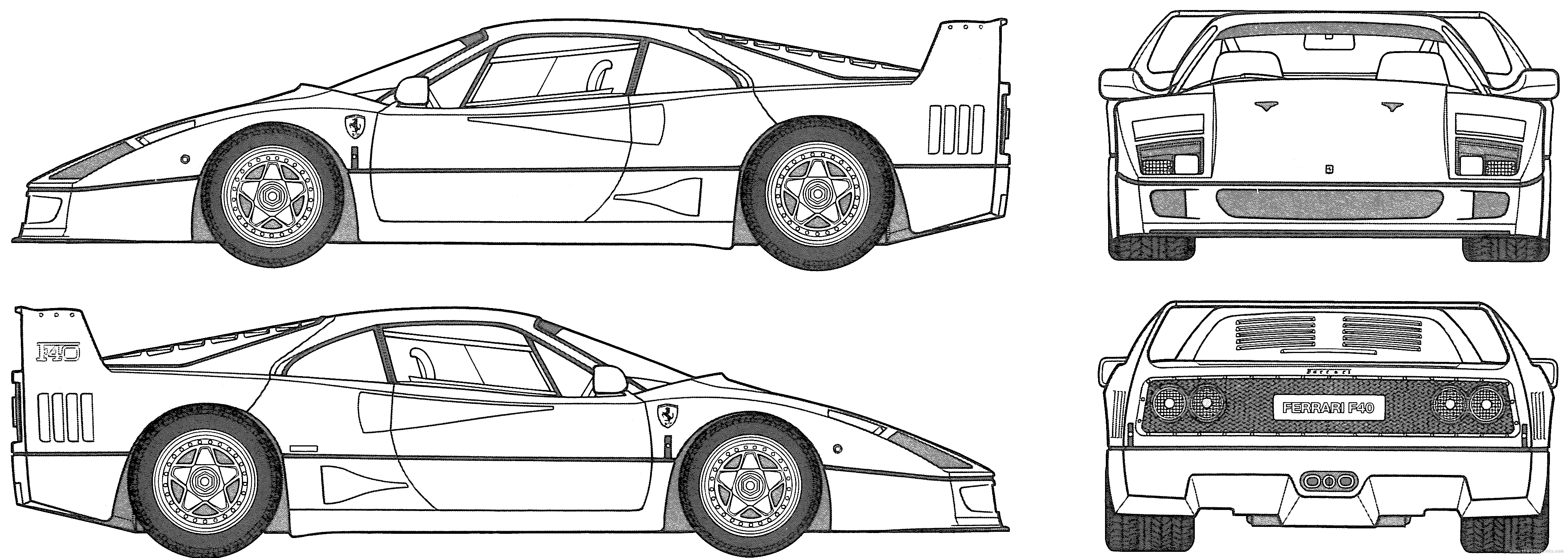 Ferrari f40 dimensions