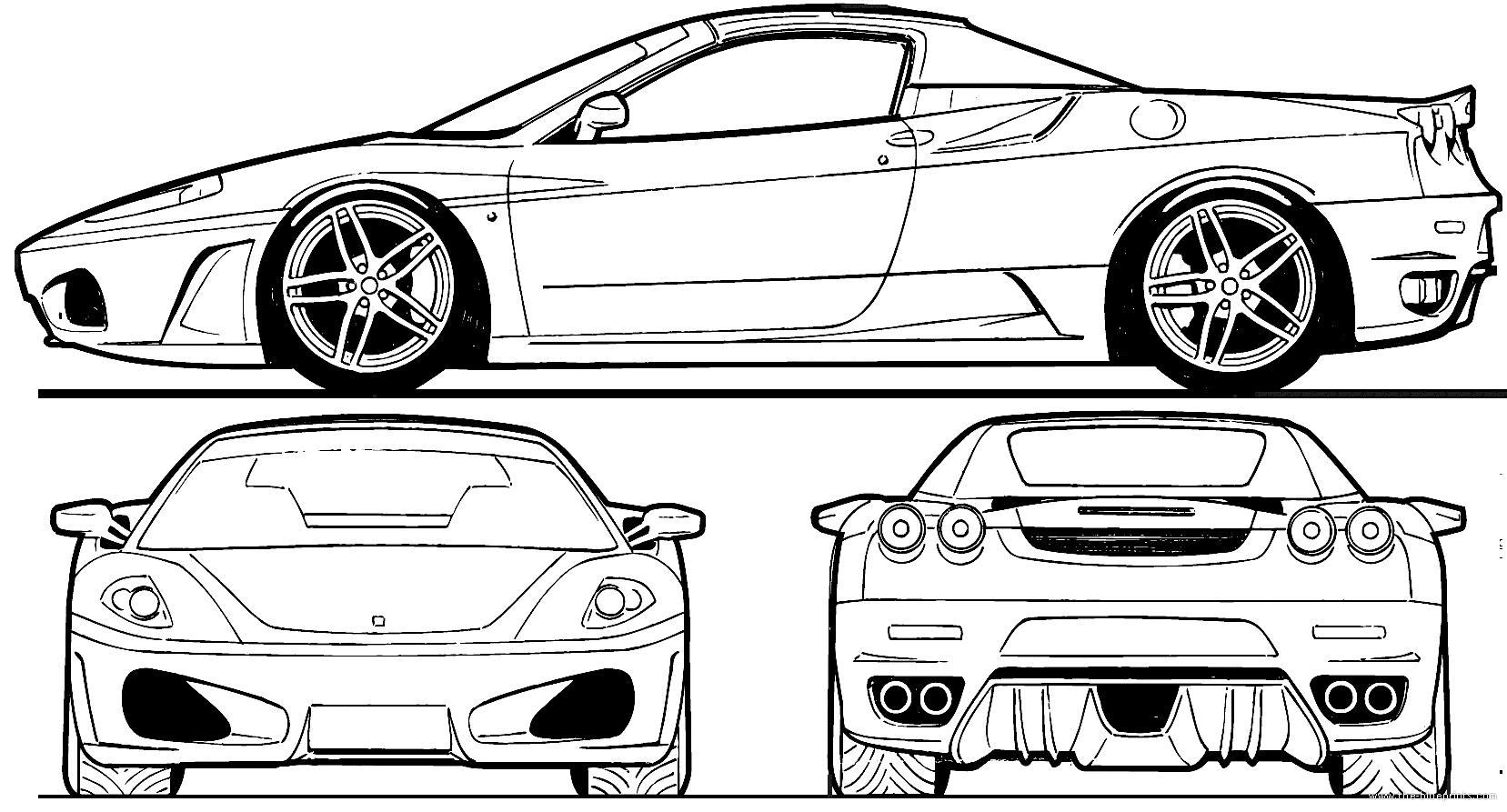 Ferrari ferrari dimensions car and auto pictures all types all ferrari ferrari dimensions the blueprints blueprints cars ferrari malvernweather Choice Image