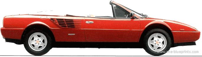 ... - Blueprints > Cars > Ferrari > Ferrari Mondial 3.2 Cabriolet (1986