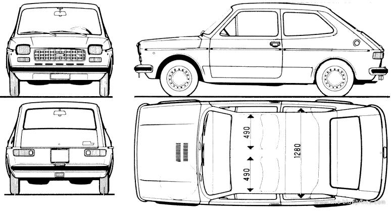 blueprints  u0026gt  cars  u0026gt  fiat  u0026gt  fiat 127  1973