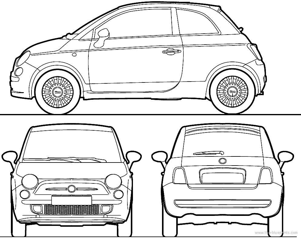 blueprints cars fiat fiat 500 2010. Black Bedroom Furniture Sets. Home Design Ideas