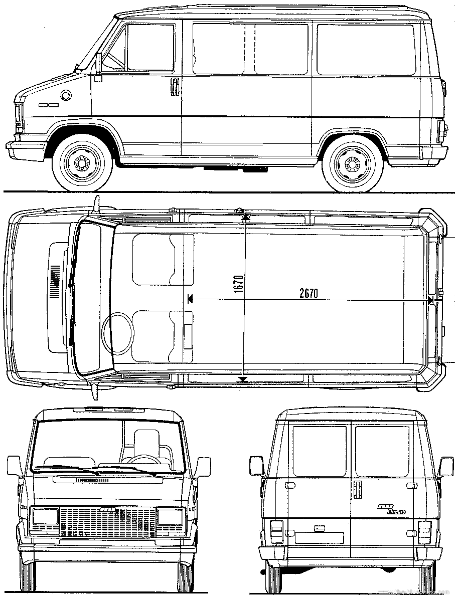 blueprints cars fiat fiat ducato 1982. Black Bedroom Furniture Sets. Home Design Ideas