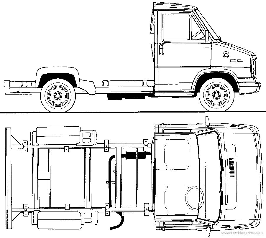 blueprints  u0026gt  cars  u0026gt  fiat  u0026gt  fiat ducato chassis  1982