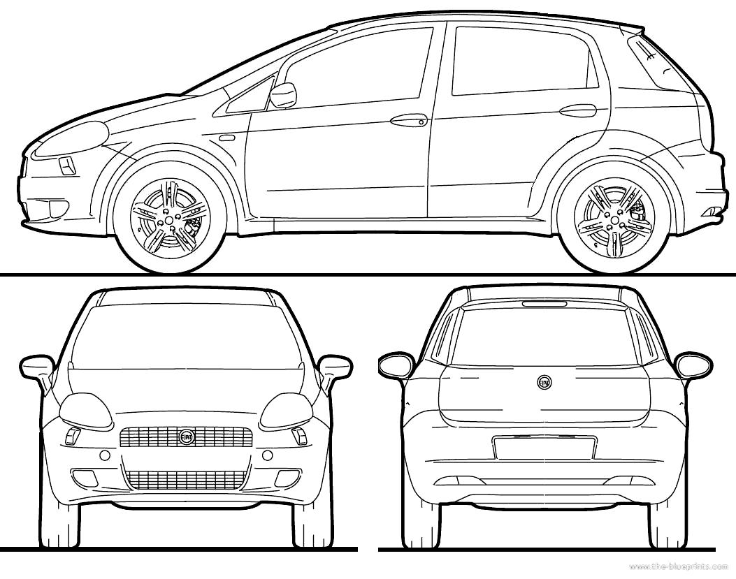 blueprints cars fiat fiat grande punto 2010. Black Bedroom Furniture Sets. Home Design Ideas