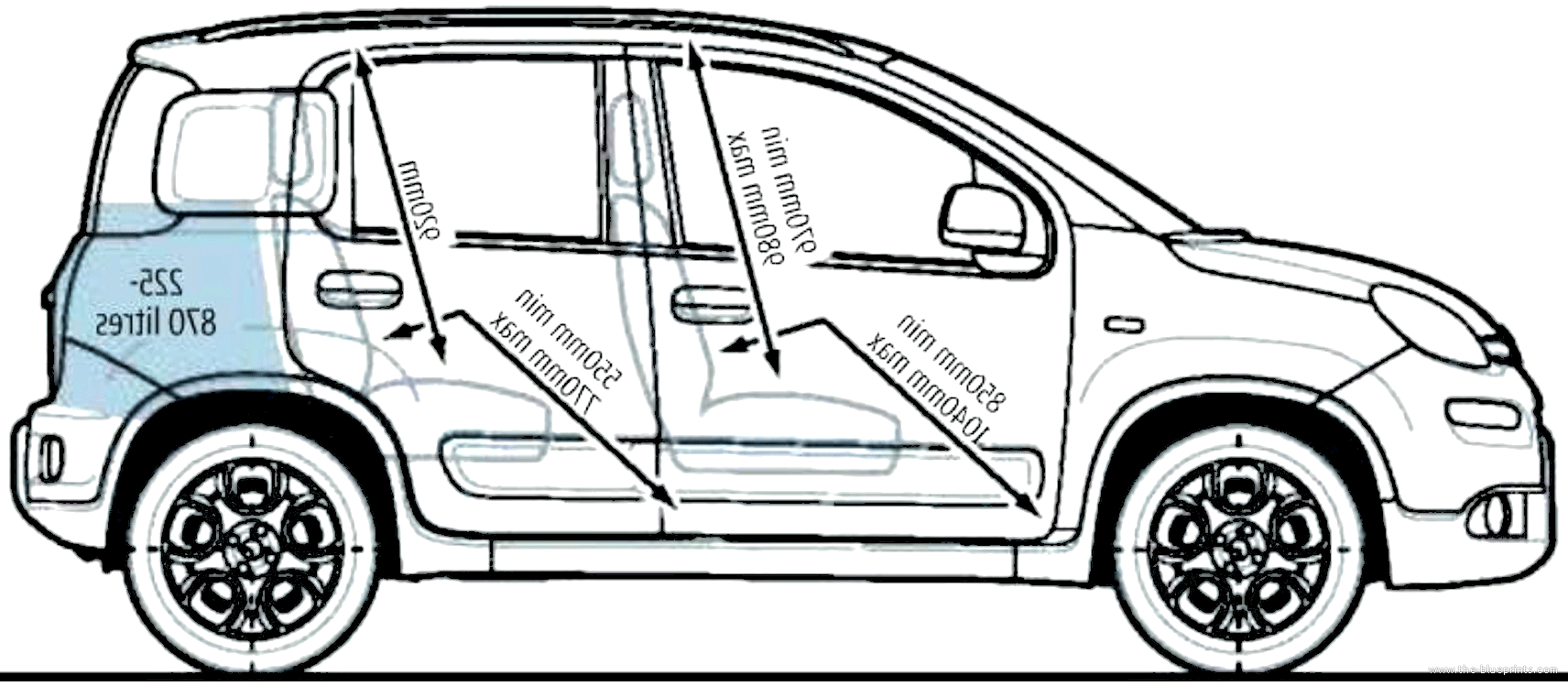 blueprints cars fiat fiat panda 4x4 2013. Black Bedroom Furniture Sets. Home Design Ideas
