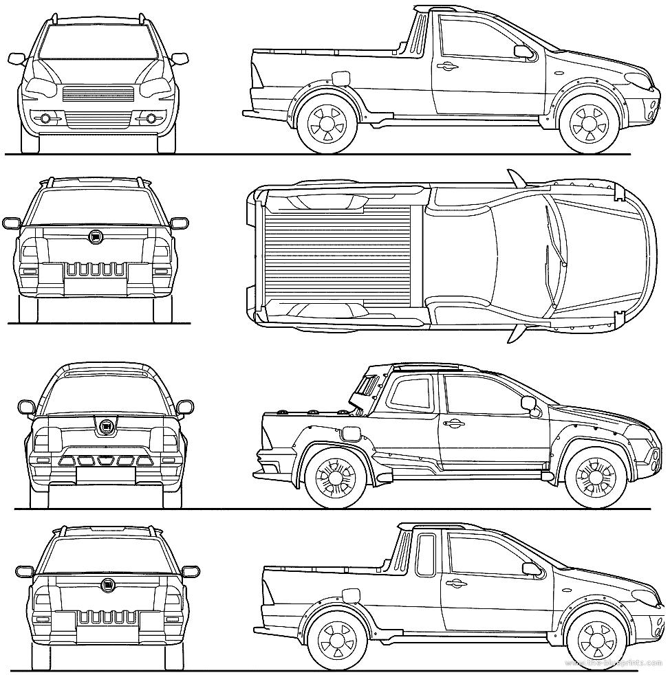 blueprints cars fiat fiat strada 2012