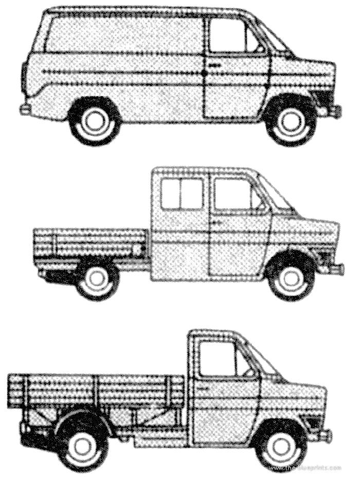 blueprints  u0026gt  cars  u0026gt  ford  u0026gt  ford transit van mk i  1968