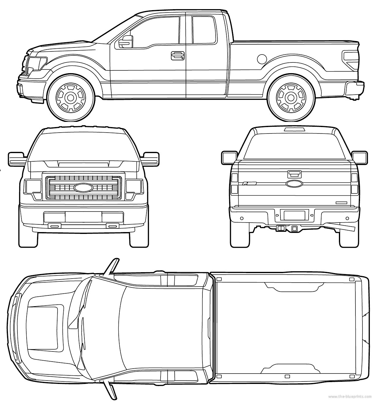The Blueprints Com Blueprints Gt Cars Gt Ford Gt Ford F 150