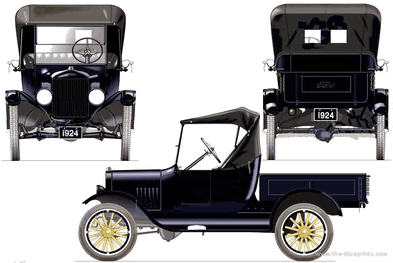 Blueprints cars ford ford model t pick up 1924 ford model t pick up 1924 malvernweather Image collections