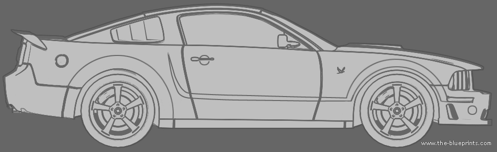 Blueprints Cars Ford Ford Mustang 2005