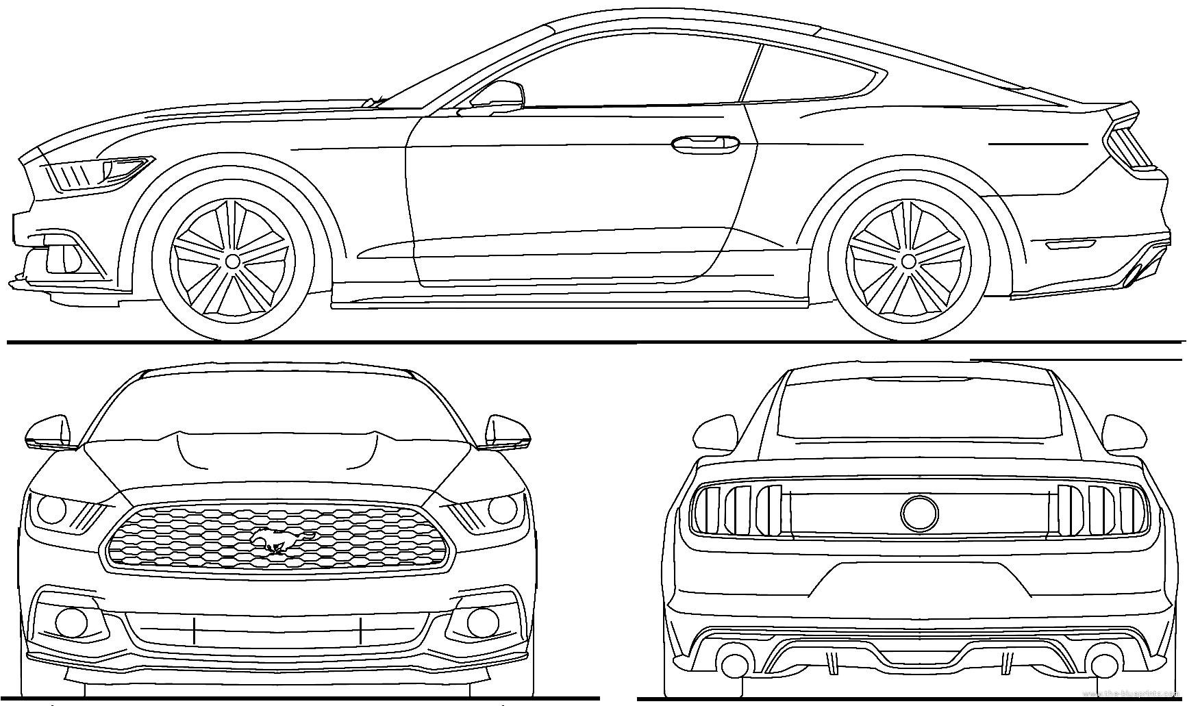 Blueprints > Cars > Ford > Ford Mustang GT (2015)