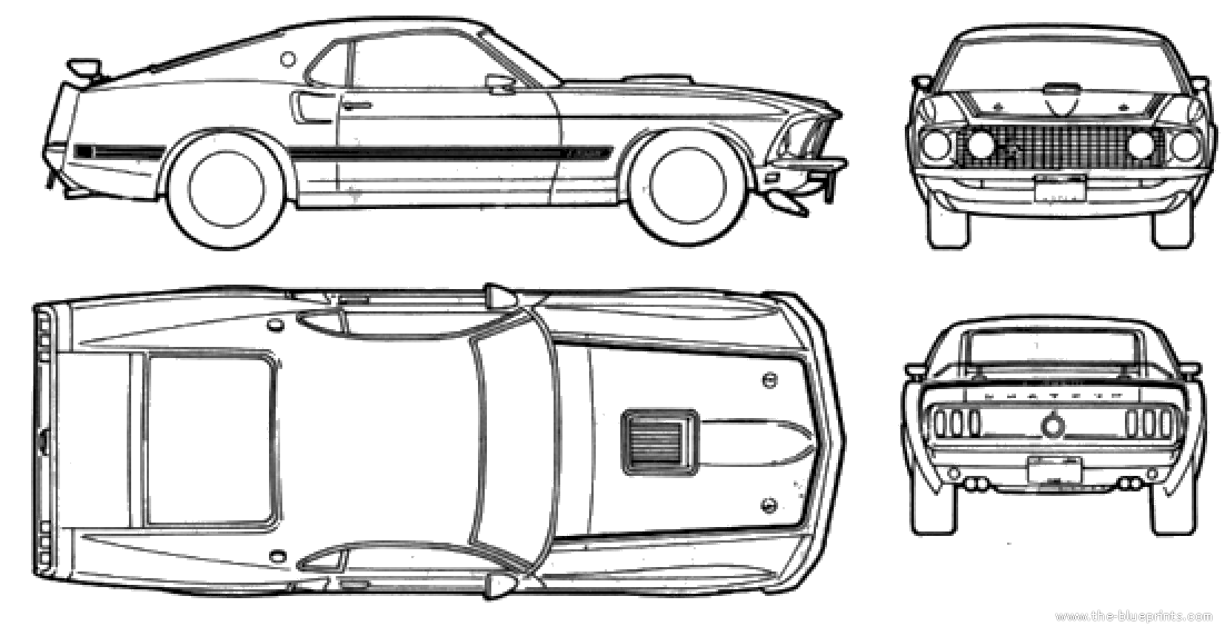 1969 ford mustang blueprints