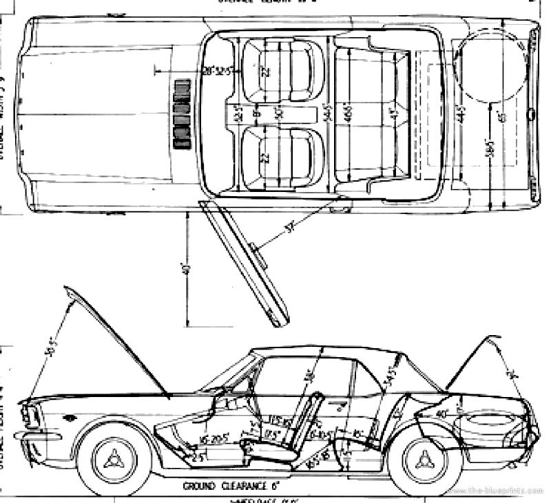 blueprints  u0026gt  cars  u0026gt  ford  u0026gt  ford mustang v8 convertible  1964