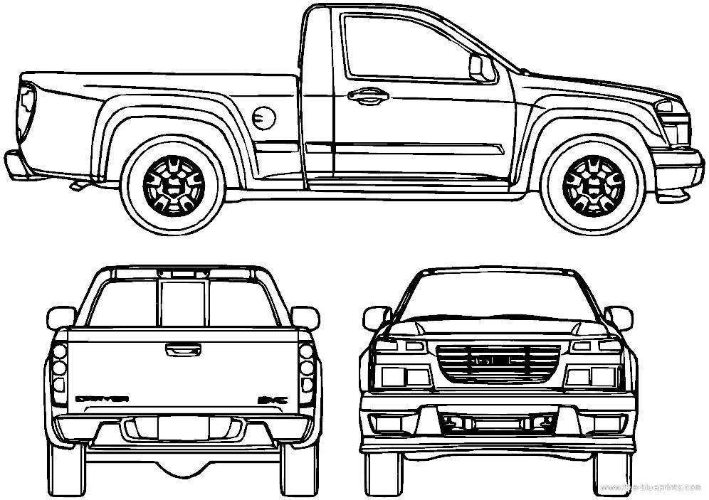 blueprints  u0026gt  cars  u0026gt  gmc  u0026gt  gmc canyon  2006