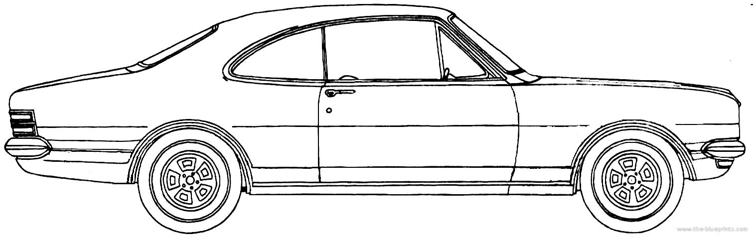 Blueprints > Cars > Holden > Holden HT Monaro Coupe (1969)