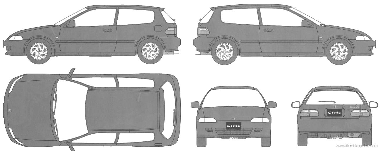 Honda Civic 3 Door. Honda Civic Vit 3-Door