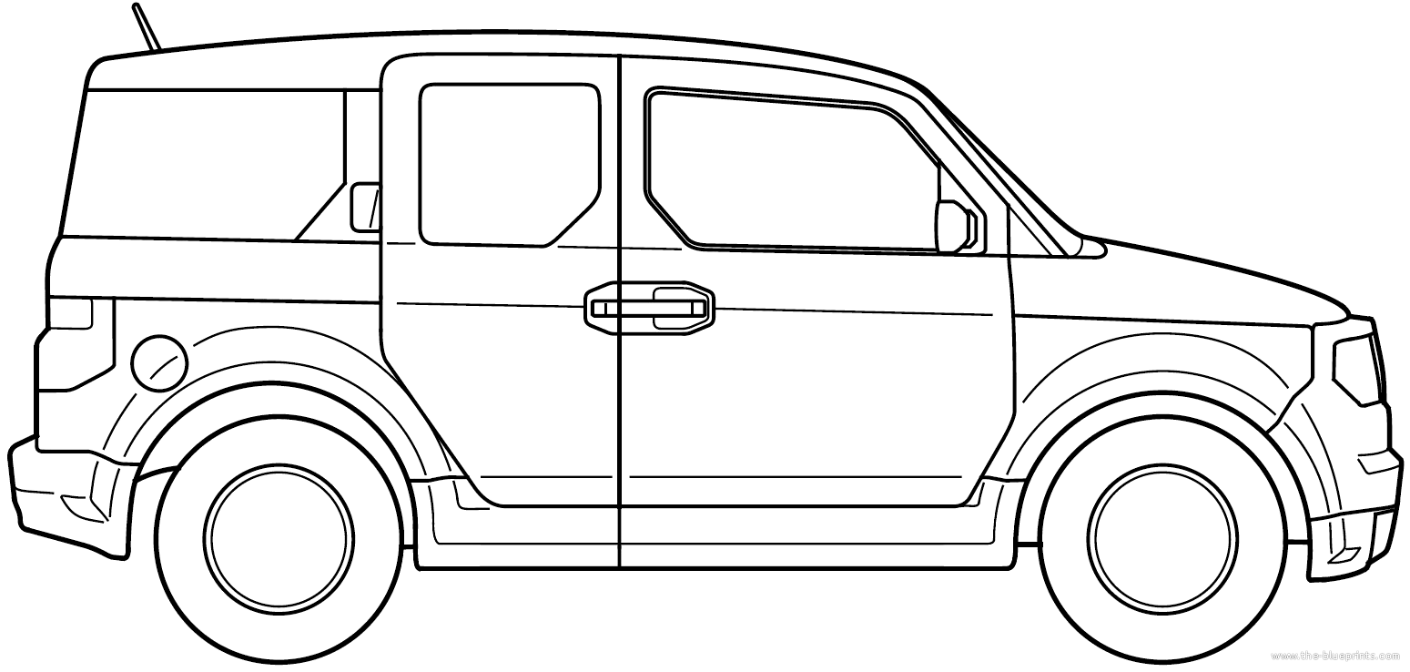 Blueprints cars honda honda element 2008 for Honda element dimensions