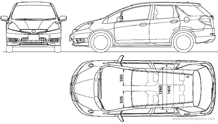 blueprints  u0026gt  cars  u0026gt  honda  u0026gt  honda fit shuttle  2011