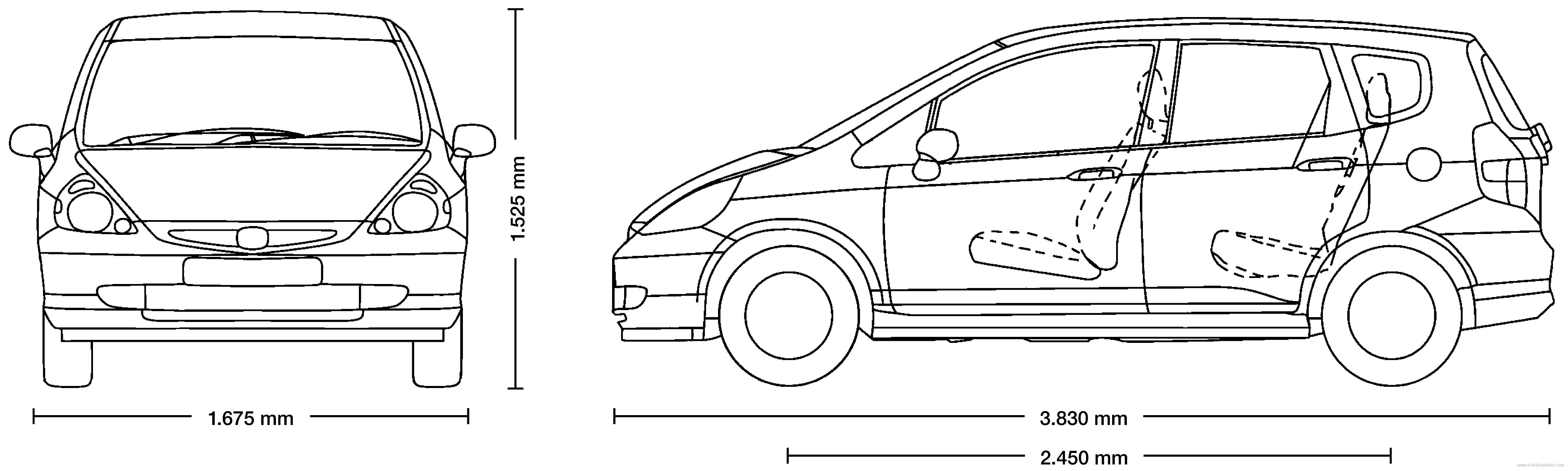 Blueprints Cars Honda Honda Jazz 2004