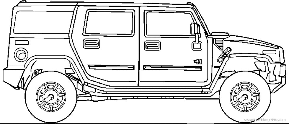 hummer free coloring pages - photo#30