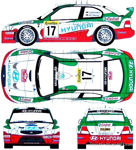 Blueprints Cars Hyundai Hyundai Accent Rally 2002