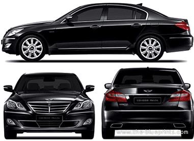 Blueprints > Cars > Hyundai > Hyundai Genesis Prada (2013)