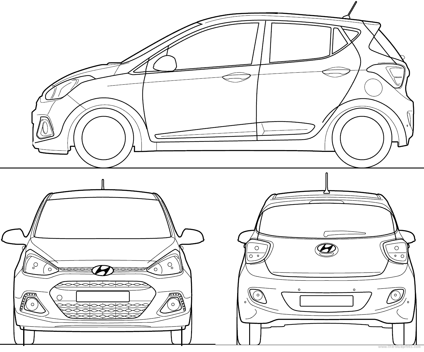 the blueprints cars hyundai hyundai grand i10 2014. Black Bedroom Furniture Sets. Home Design Ideas