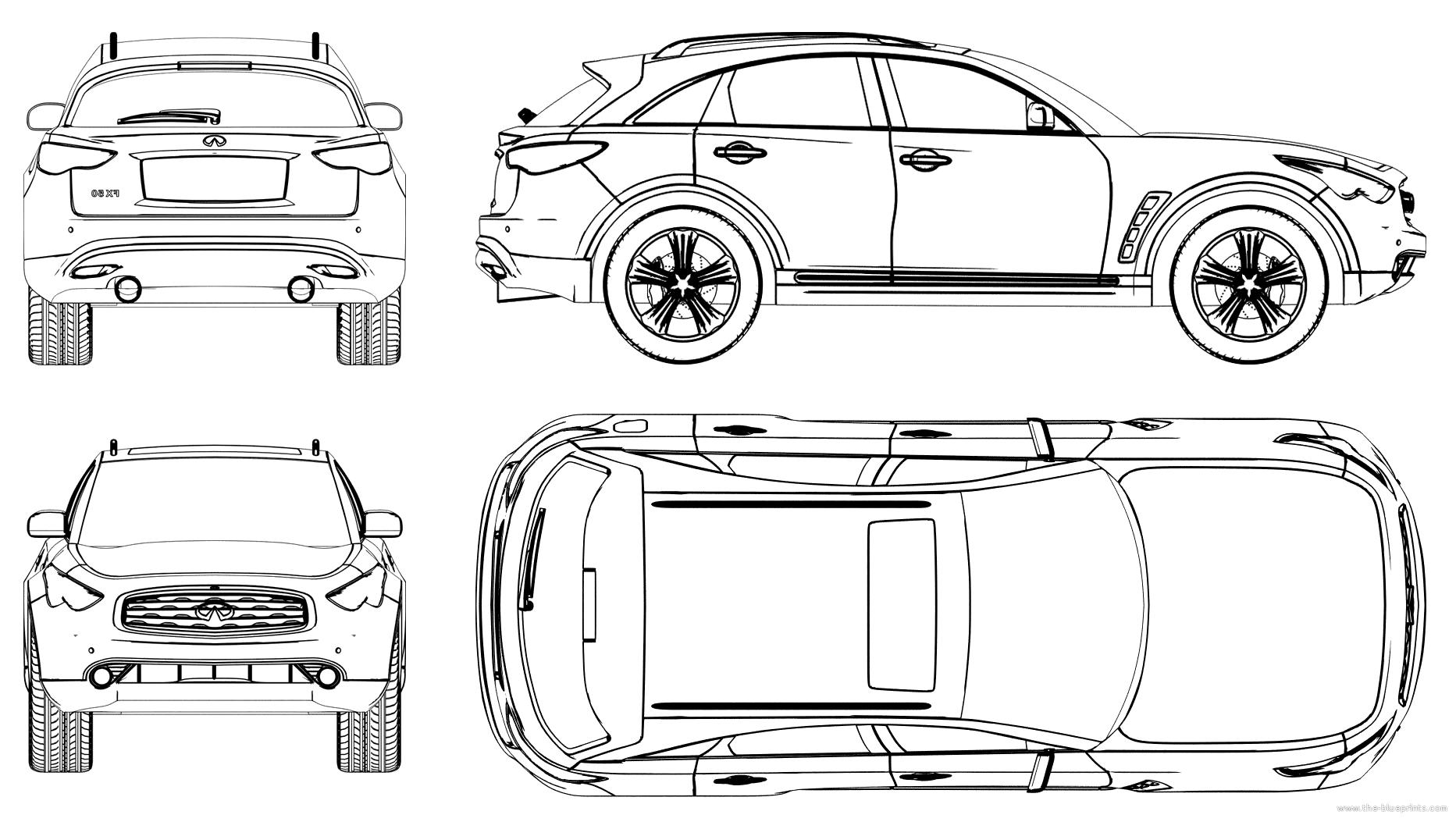 The blueprints blueprints cars infiniti infiniti fx 2009 infiniti fx 2009 malvernweather Gallery