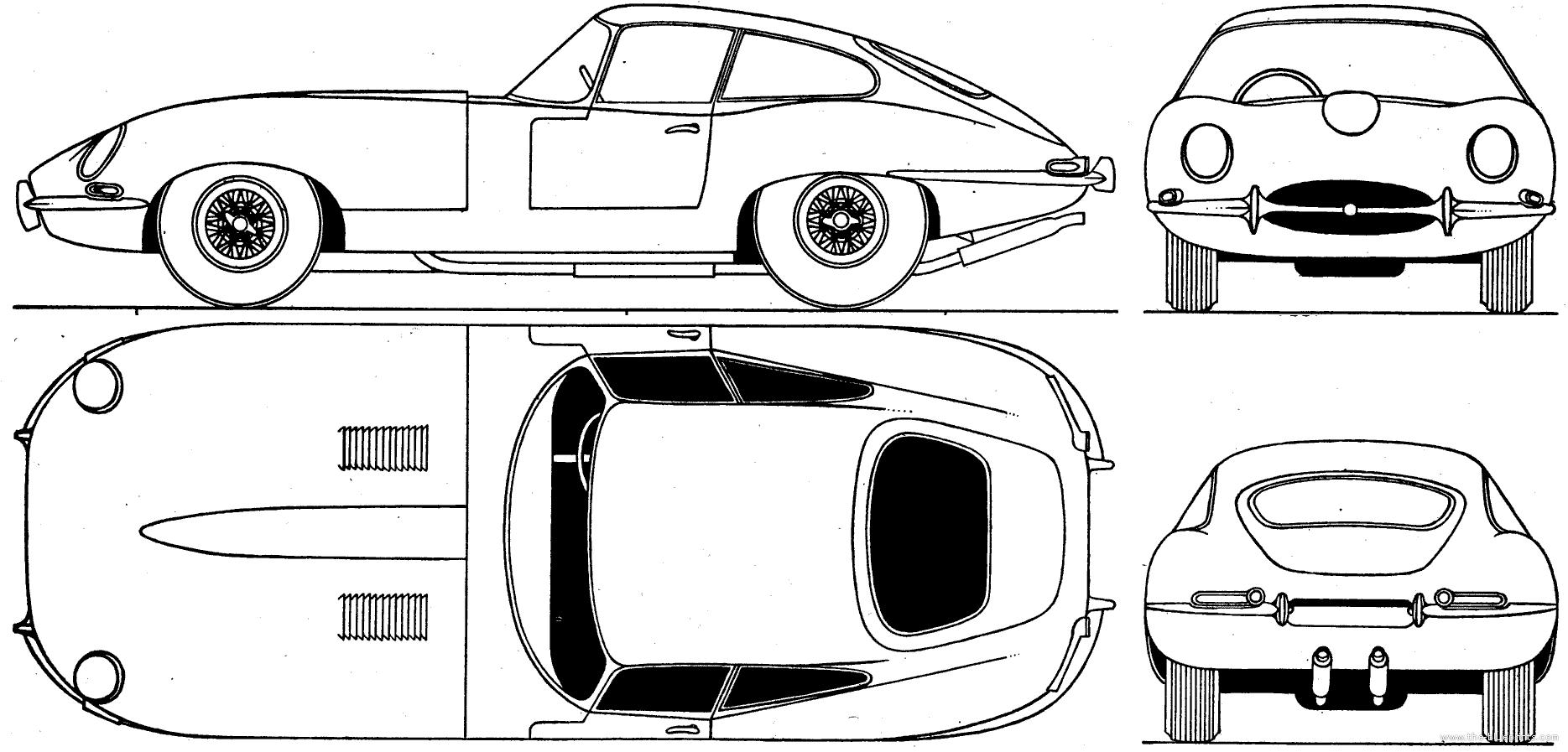 Line Drawing Jaguar : The blueprints gt cars jaguar e