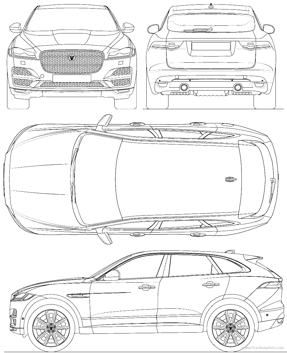 blueprints cars jaguar jaguar f pace 2015. Black Bedroom Furniture Sets. Home Design Ideas