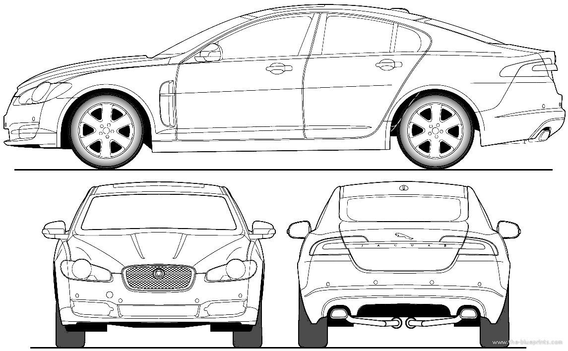 the blueprints cars jaguar jaguar xf 2011. Black Bedroom Furniture Sets. Home Design Ideas