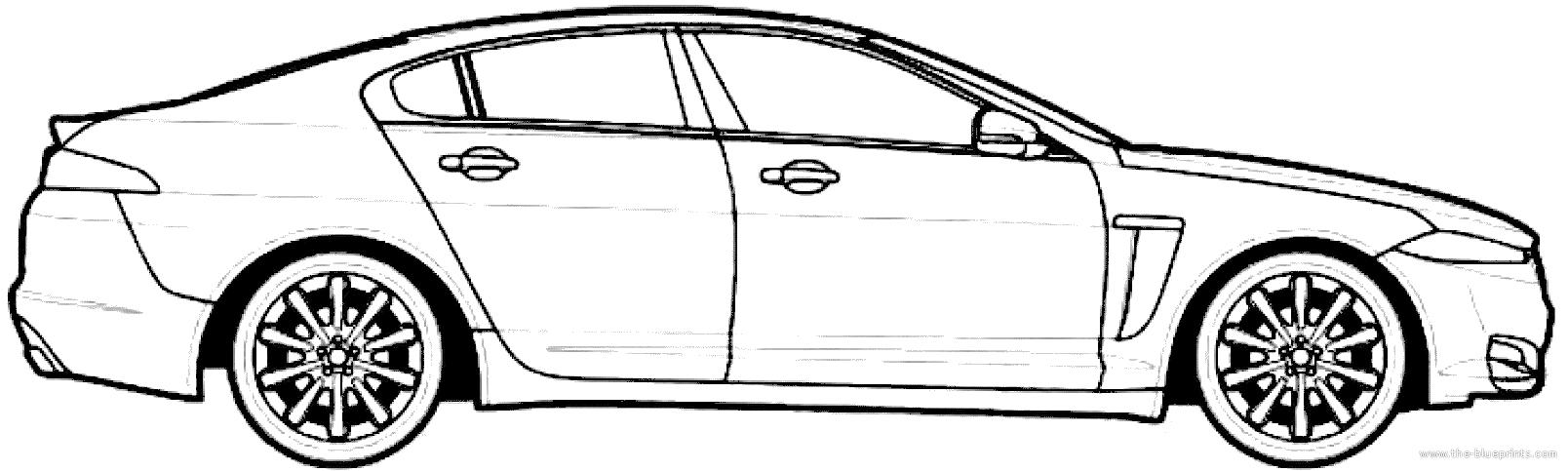 jaguar car drawing - photo #4