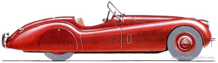 ... .com - Blueprints > Cars > Jaguar > Jaguar XK-120 Roadster (1948