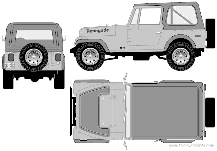 blueprints cars jeep jeep cj 7 renegade 1977. Black Bedroom Furniture Sets. Home Design Ideas