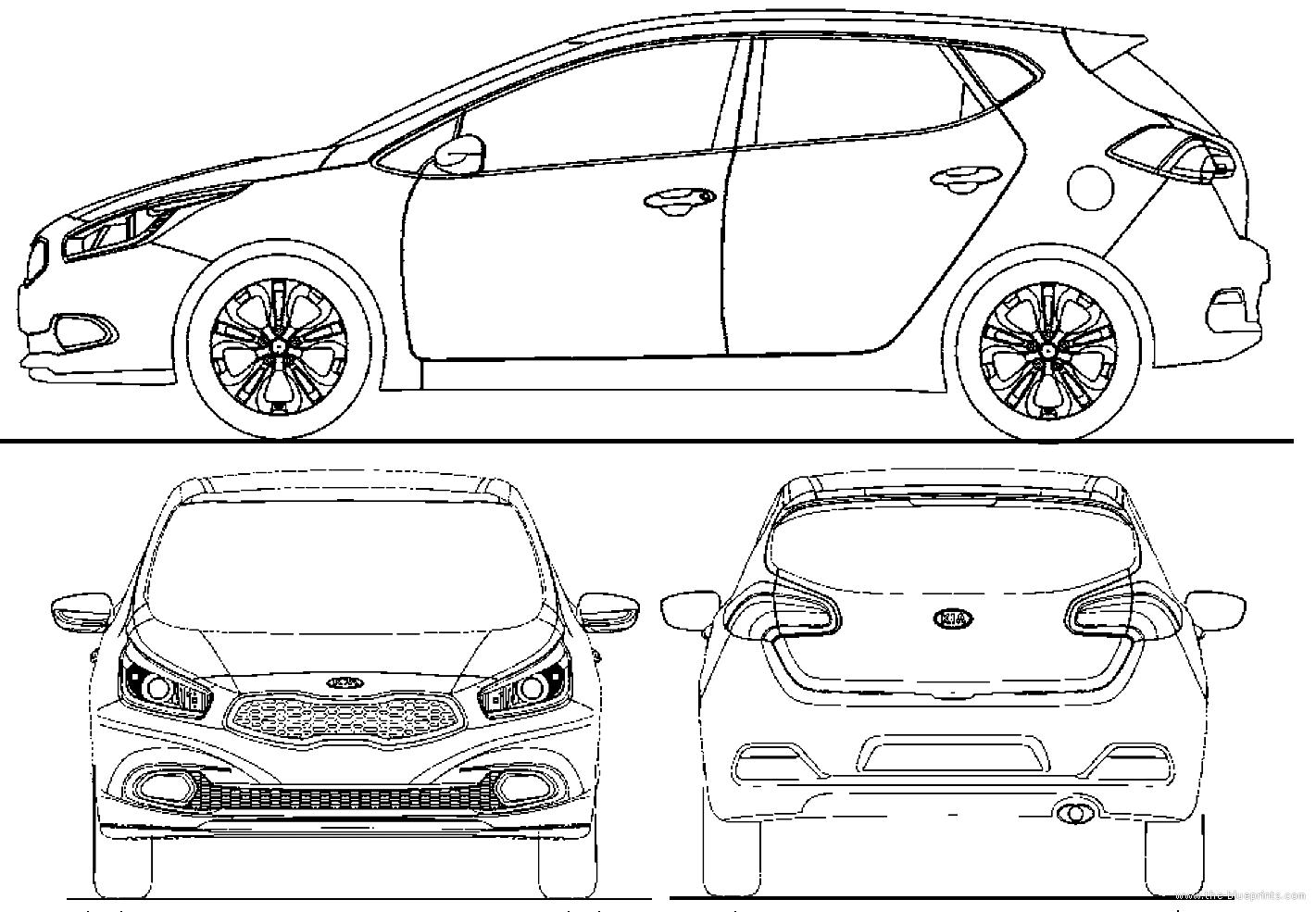 blueprints cars kia kia cee 39 d 2012. Black Bedroom Furniture Sets. Home Design Ideas