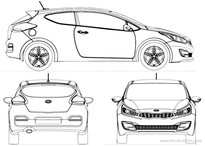 car blueprints kia pictures