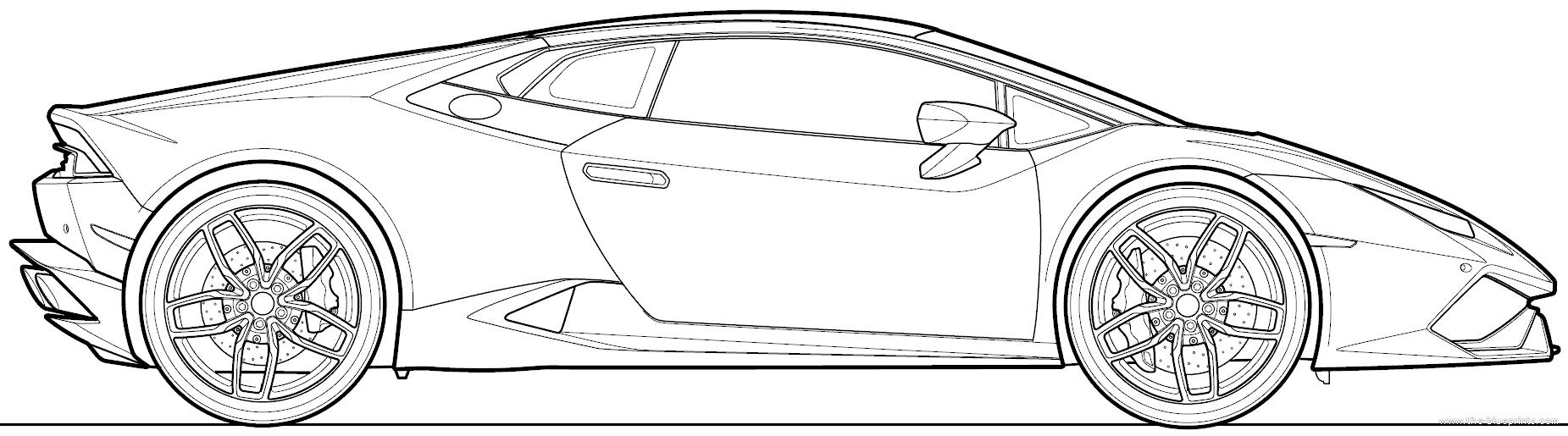 Lamborghini Huracan Drawing Car Image Idea
