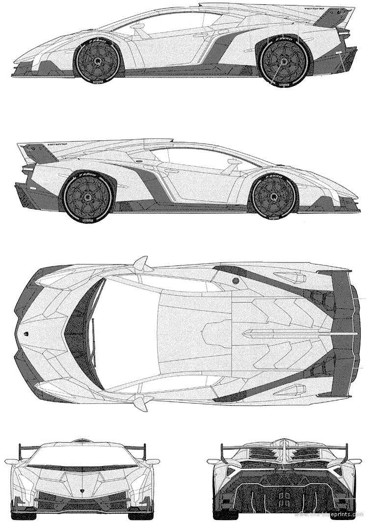 The Blueprints Com Blueprints Cars Lamborghini Lamborghini