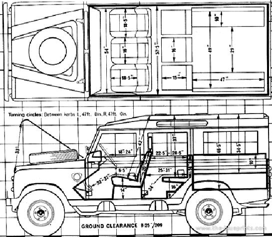 the blueprints cars land rover land rover 109 v8 1980. Black Bedroom Furniture Sets. Home Design Ideas