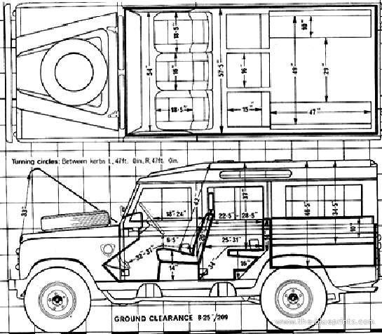 Blueprints Cars Land Rover Land Rover 109 V8 1980