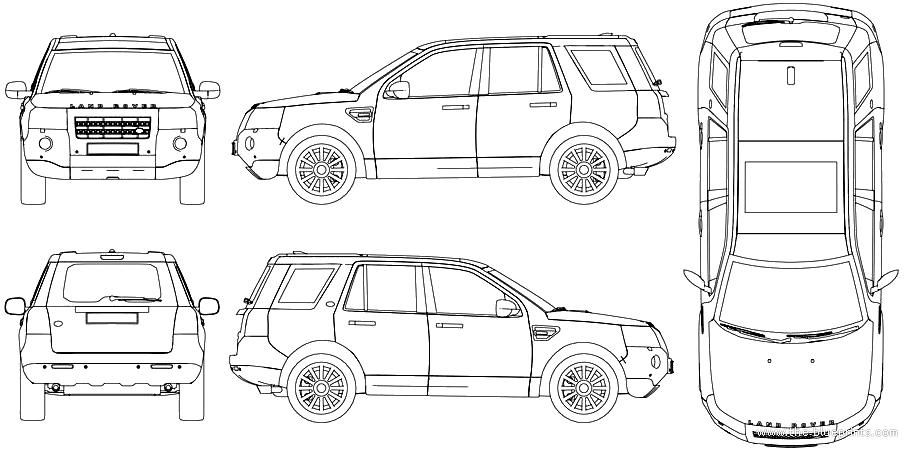 blueprints  u0026gt  cars  u0026gt  land rover  u0026gt  land rover freelander lr2