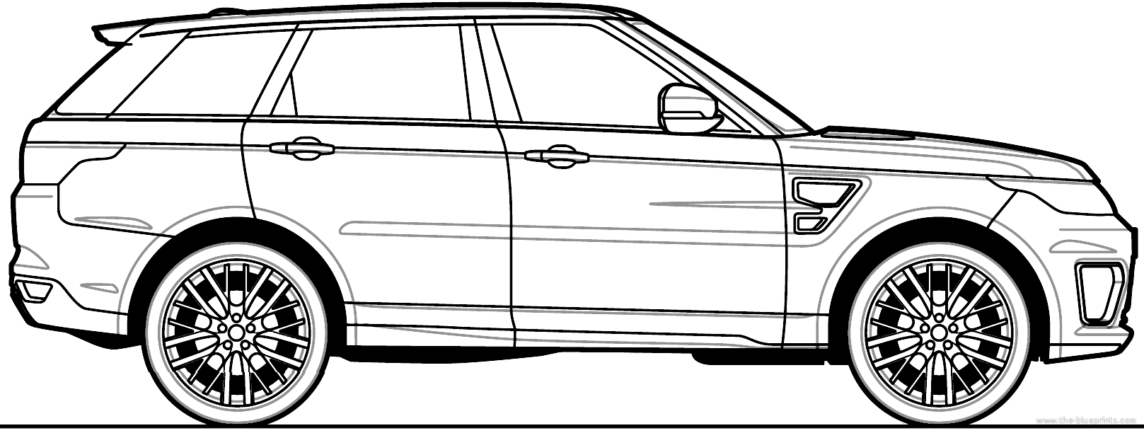 range rover car drawing related keywords  u0026 suggestions